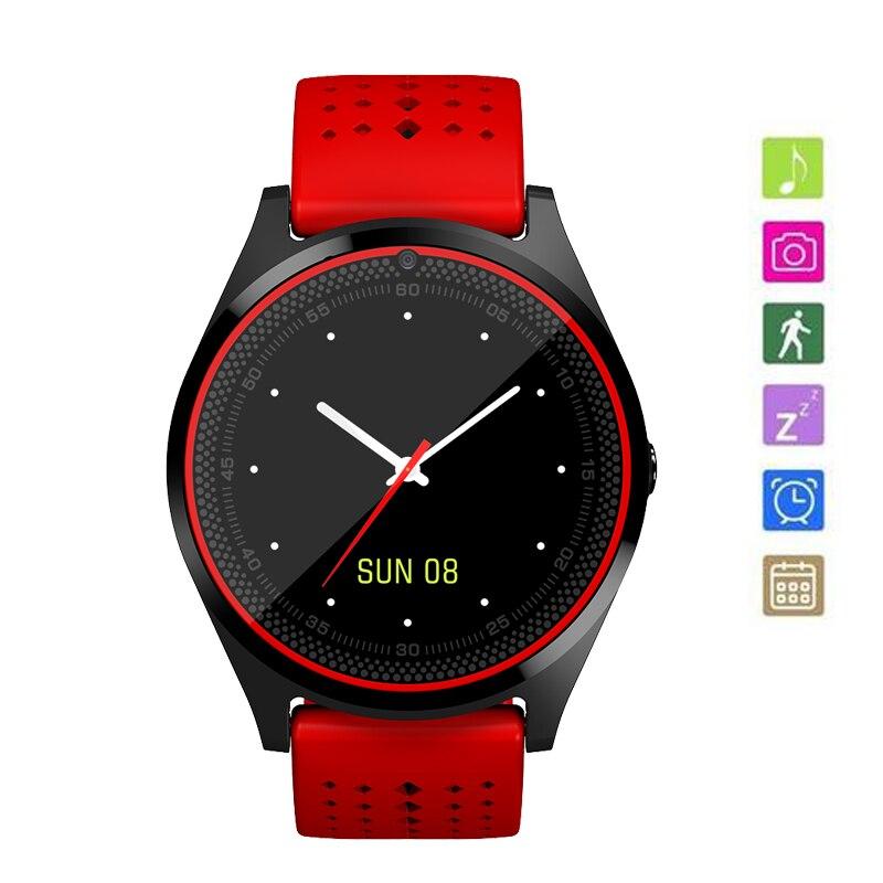 0c7f5b5877a2 Reloj Deportivo Mujer Bluetooth Smart Watch V10 Micro SIM Card 2G With  Camera Pedometer Health Sport MP3 Music Clock Smartwatch