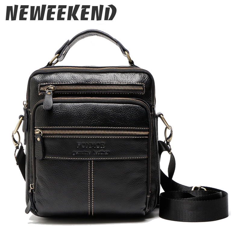Handbag Genuine Leather Men Bag Fashion Leather Crossbody Bag Shoulder Men Messenger Bags Small Casual Designer Handbags B035 недорго, оригинальная цена