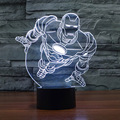 3D Optical Illusion Night Light 7 Colors-Changing Desk Lamp Table Lamp with Intelligent Touch Control (Ironman)