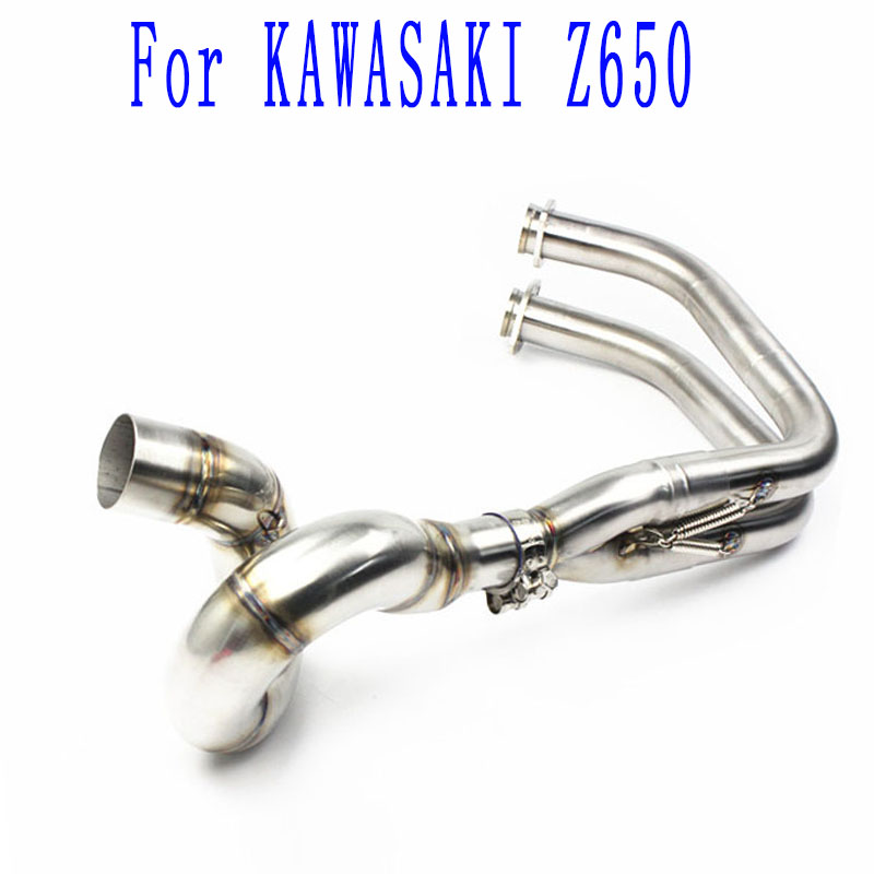 Whole Set Manifold For Kawasaki Z650 NINJA650 Motorcycle 51mm Exhaust Full System Pipe Stainless Steel Header