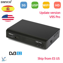 DVB-S2 V9S PRO TV Receptor Full HD 1080p Satellite Decoder Support BissKey Powervu Youtube Clines IPTV MPEG-5 Satellite Receiver