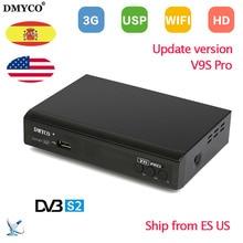 New upgrade Satellite Receiver V9S PRO DVB-S2 MPEG-5 1080P Full HD tv receptor Support BISS Key Powervu Xtreamcodes IPTV V9S+