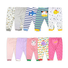 [5Pcs/lot Random Color]Cartoon Print Baby Pants Cotton Baby Leggings Spring Autumn Toddler Boy Pants Newborn Infant Clothing
