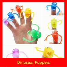 Dinosaur hand puppet 5pcs/set about 4.5cm soft plastic model toy funny finger toy for children's birthday gift free shipping ky2