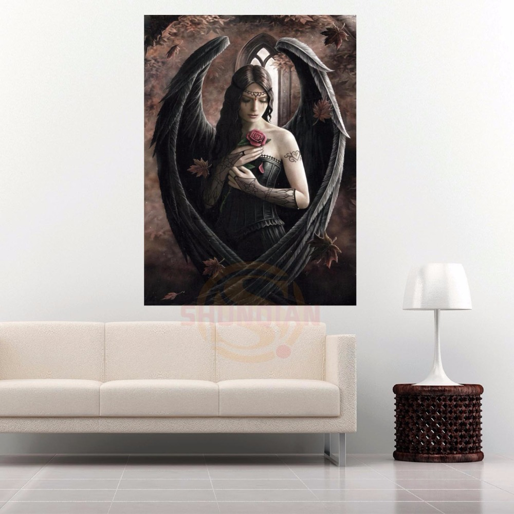 G928 New The Anne Stokes Retro Classic Canvas Painting Wall Silk Poster cloth print Custom Print your image Fabric Poster
