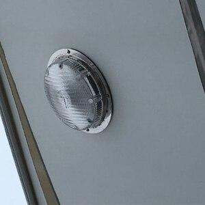 Image 4 - 3 W Araba Iç LED Tavan kubbe ışık Beyaz Paslanmaz Çelik Lamba 12 V tekne Karavan Motorlu Ev Aksesuarları