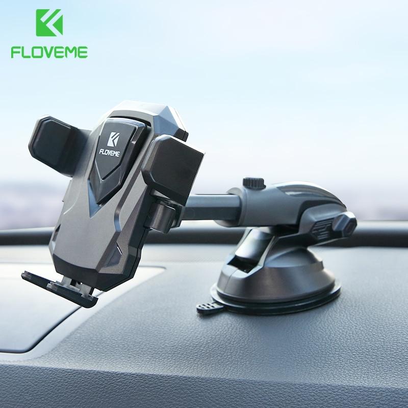 FLOVEME 360 di Rotazione Supporto Del Telefono Dell'automobile Per il iphone X 8 di Aspirazione del Parabrezza del Supporto Dell'automobile del Supporto Del Basamento Del Telefono Per Samsung S8 suporte in Auto