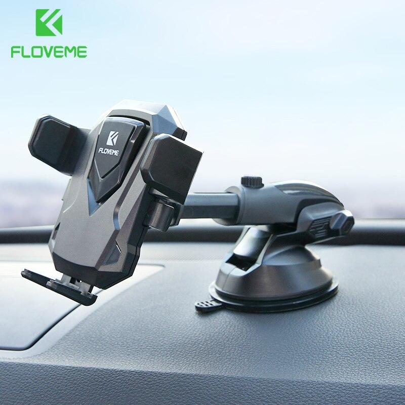 FLOVEME 360 Rodar Suporte Do Telefone Do Carro Para o iphone X 8 Brisa Do Carro de Sucção Montar Titular Suporte Do Telefone Para Samsung S8 suporte no Carro