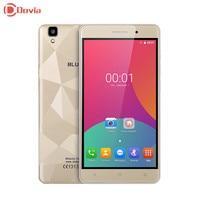 Bluboo Maya Android 6.0 MT6580A Quad Core 5.5 inç GSM/WCDMA Cep Telefonu 2 GB RAM + 16 GB ROM 13.0MP + 8.0MP 1280*720 3000 mAh