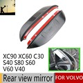 2PCS Hot Sale Plasticl Rearview Mirror Cove for VOLVO C30 V40 V60 S40 S60 S80 XC60 XC90 Car Stickers Car Styling Car Accessories