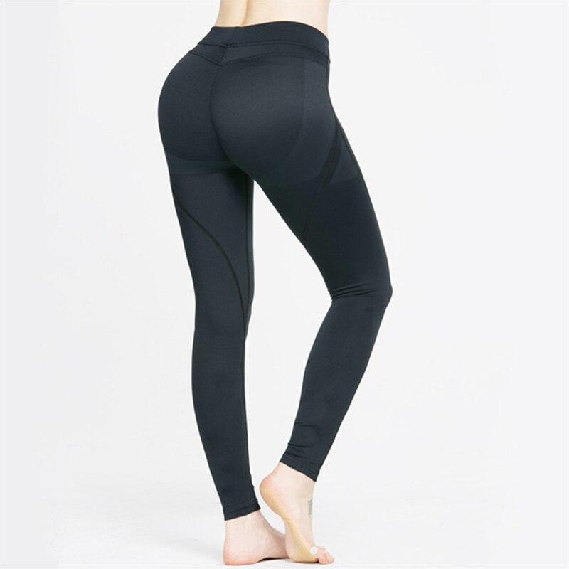 Prix pour Yoga pantalon de sport collants femmes vêtements de sport yoga de remise en forme aérobie vêtements de course collants femmes yoga leggings usure rose 2016