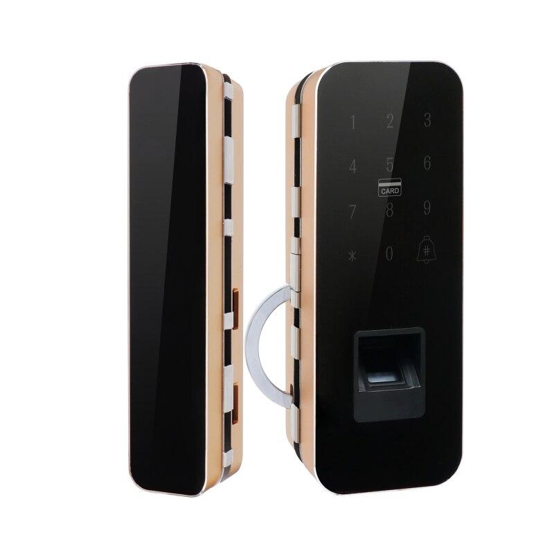 Стекло дверной замок Офис keyless Электрический замок отпечатков пальцев с сенсорной клавиатурой пароль смарт карта с 2 Ключи дистанционного у