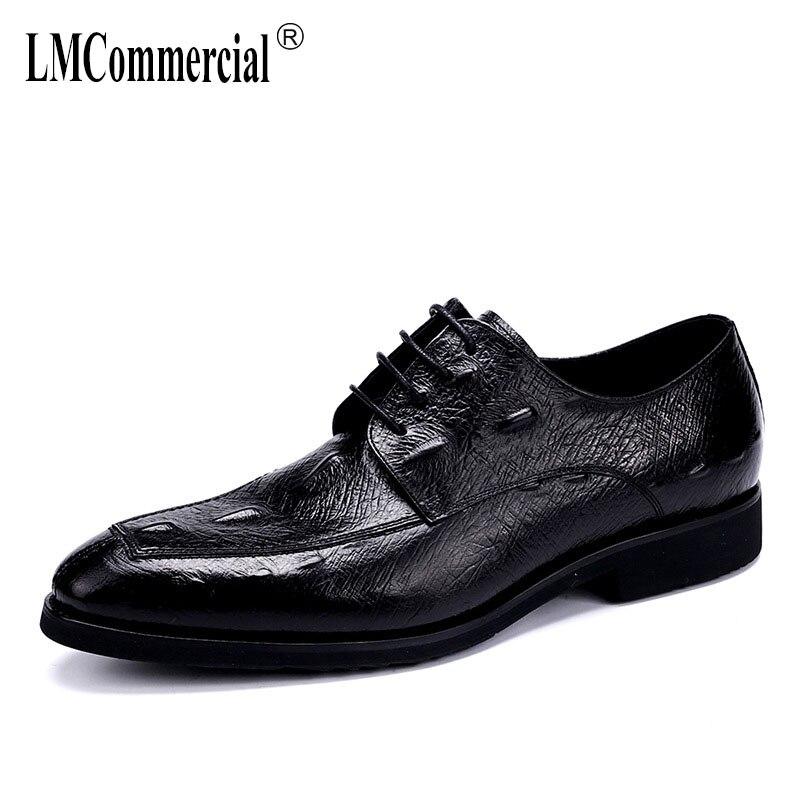 Jogo Os Sapatos Dos Formais Alta Couro Shoes Homens Preto Dress Genuíno Negócios Lace Men Flats Qualidade up De Do Moda Todos f1pxqvzw