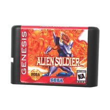 Alien Soldier-16 bit MD Games Cartridge Voor MegaDrive Genesis console(China)