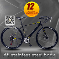 30 speed light aluminum alloy frame road bike bicycle racing double disc brakes sports road bike for men and women