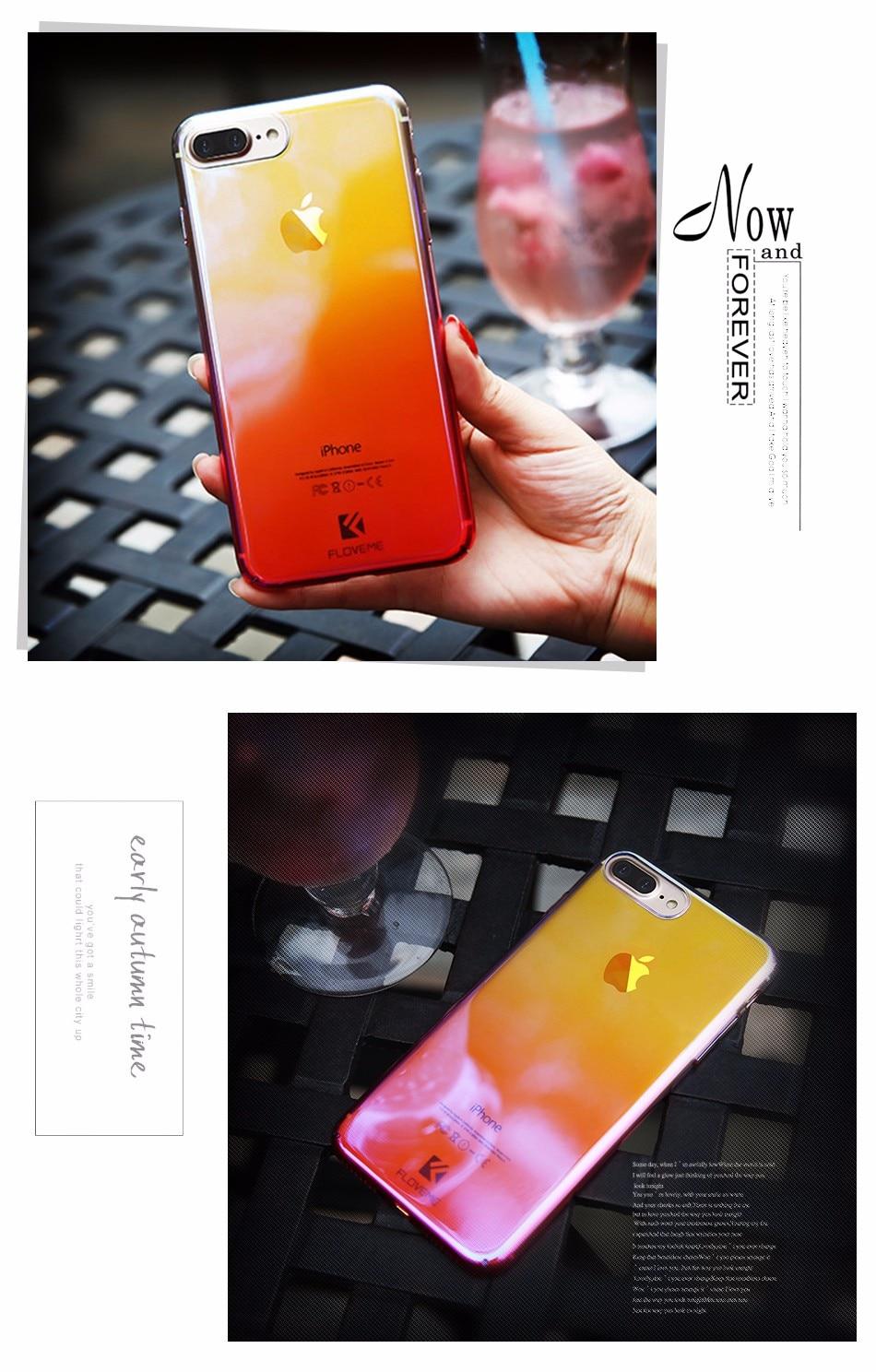Floveme niebieski ray gradientu przypadki telefonów dla iphone 5 5s se 6 7 6 s plus case do samsung s8 s6 s7 pokrywa dla xiaomi redmi 4 mi5 krawędzi 13