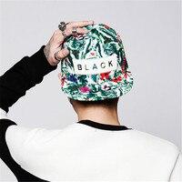 [Fetsbuy] حار جديد snapback قبعة casquette الرجال النساء غطاء قابل للتعديل الهيب هوب أسود رجع قبعات البيسبول زهرة gorras