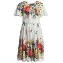 Супер бренд девочка в платье дети платья полоска девочка платье дизайнер дети платье девочка дети одежда