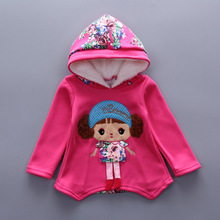 Fashion Children Girls Add Cotton Clothing Sets Winter Baby Hoodies Pants 2Pcs/Sets Toddler Warm Clothes Kids Tracksuits