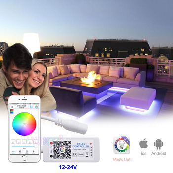 Mini LED BT regulador RGBW DC 12-24V 4 canales Bluetooth RGBW Led controlador IOS Android APP para RGB RGBW tira de LED RGBWW Luz