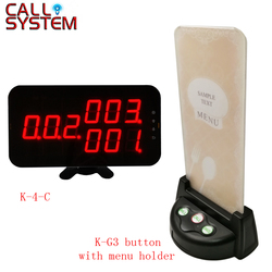 Restauracja kelner wywołanie systemu 3-cyfrowy wyświetlacz odbiornik K-4-C z 15 sztuk tabela Buzzer uchwyt na menu