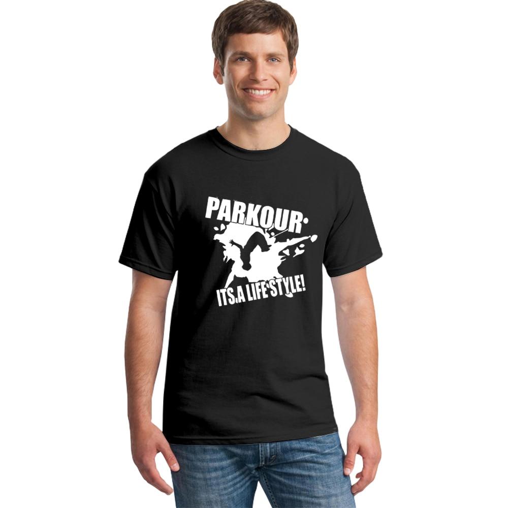 Summer Parkour Its A Lifestyle   T     Shirt   Men Short Sleeve   T  -  shirt   Cotton   Shirt   2018 O-Neck Casual Camiseta Tshirt Brand Clothing