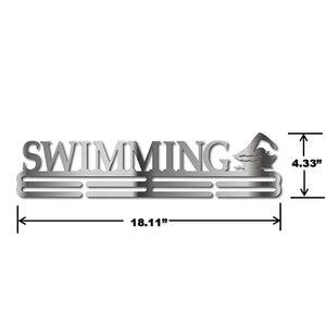 Image 5 - Ze stali nierdzewnej wieszak na medal do pływania Medal wyświetlacz wieszak pływać uchwyt na medal