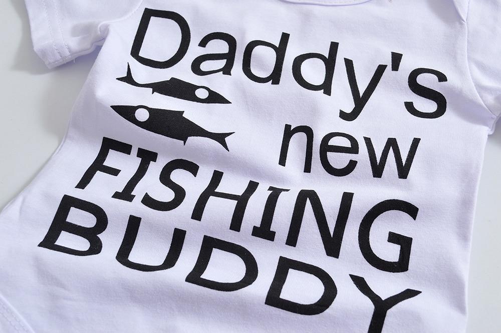 PCS  New Style Summer Baby Clothing Set Newborn Baby Boys Girls Letter Bodysuit Pants Hat