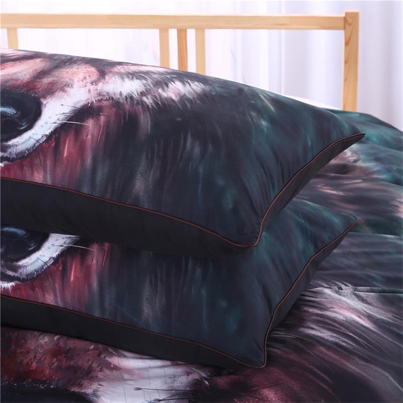 Werksverkauf 3D Vivid Wolf Bettwäsche Set Malerei Bettbezug Mit - Haustextilien - Foto 4