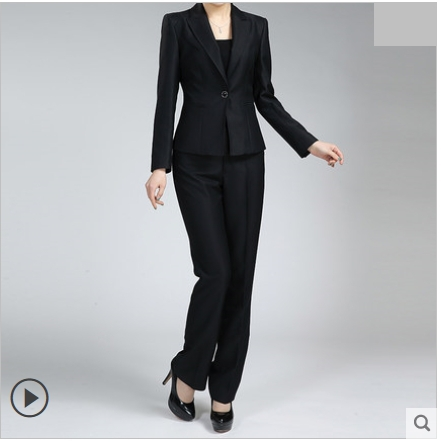 Online Shop 2015 High quality spring OL outfit tencel black pant ...