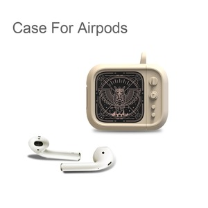 Image 2 - Auriculares Bluetooth inalámbricos estilo TV con carcasa para funda de Airpods, funda protectora completa de caucho blando de silicona para Airpods