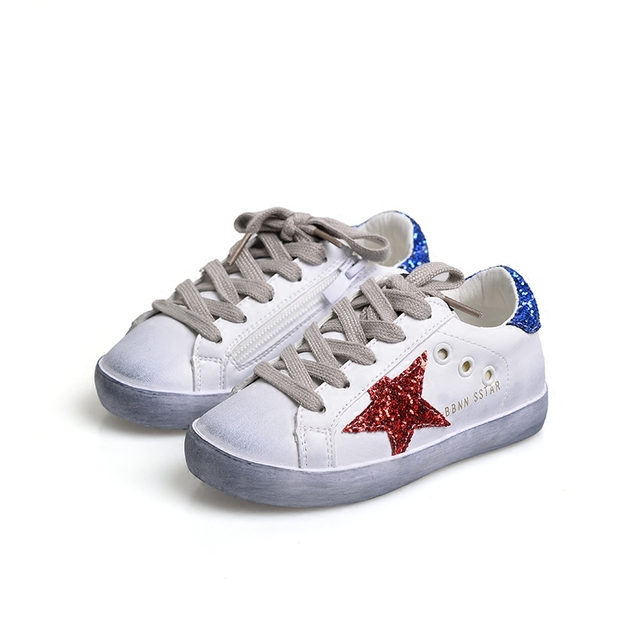 LIULIVERSON~Autumn Glitter Vintage Children s Fashion Sneakers for Baby Boys  and Girls Casual Sports Shoes 35567acd8