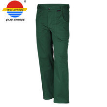 Hot Sale Wearable 100% Cotton 320G Green Big Pockets Work Pants for Men(China)