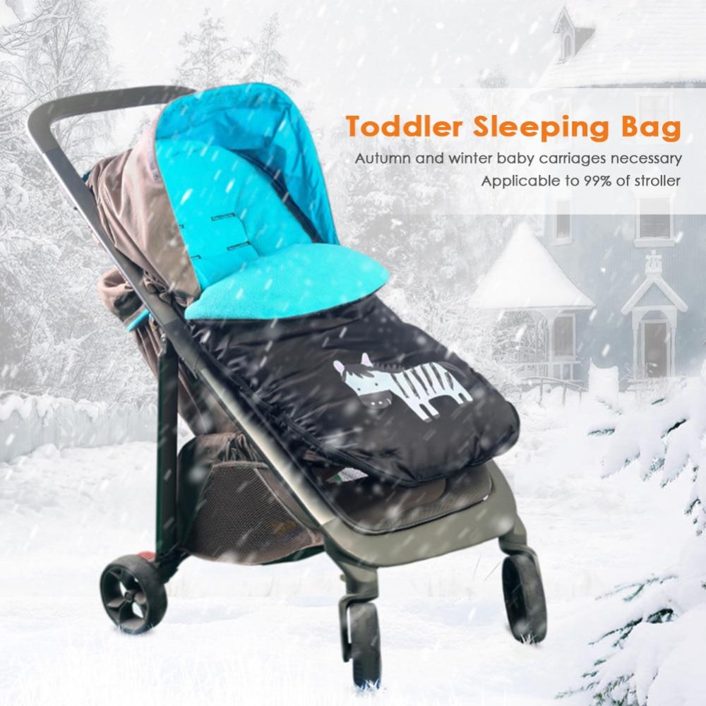 купить Toddler Baby Stroller Carriage Sleeping Bag Autumn Winter Thickened Carriage Seat Cover Multi-function Waterproof Footmuff недорого