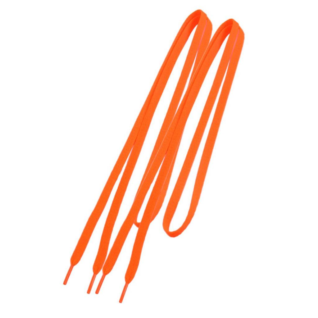ASDS Trainers Replacement 8mm Wide Orange Flat String Shoelace Pair 45 neon orange 5 16 flat shoelace for all basketball shoes