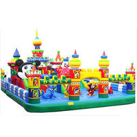 Popular selling cartoon Inflatable big fun city amusement inflatable playground inflatables amusement park