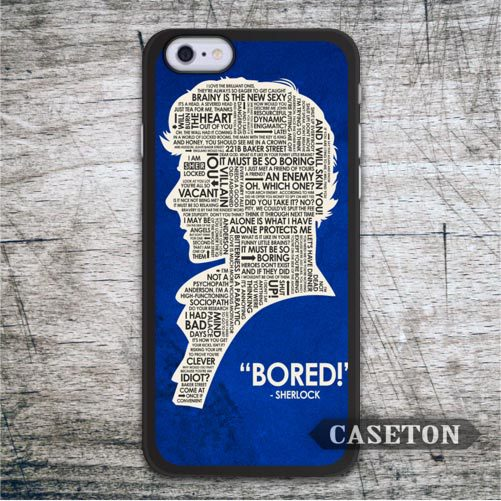 Sherlock Holmes Quote Case For iPhone 7 6 6s Plus 5 5s SE 5c and For iPod 5 High Quality Classic Phone Cases