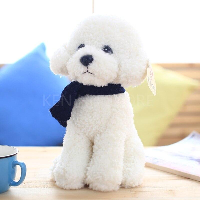 32cm Teddy Dog kids toys cute Bichon dog Plush Doll Baby toys Simulation doll for girl children birthday gift