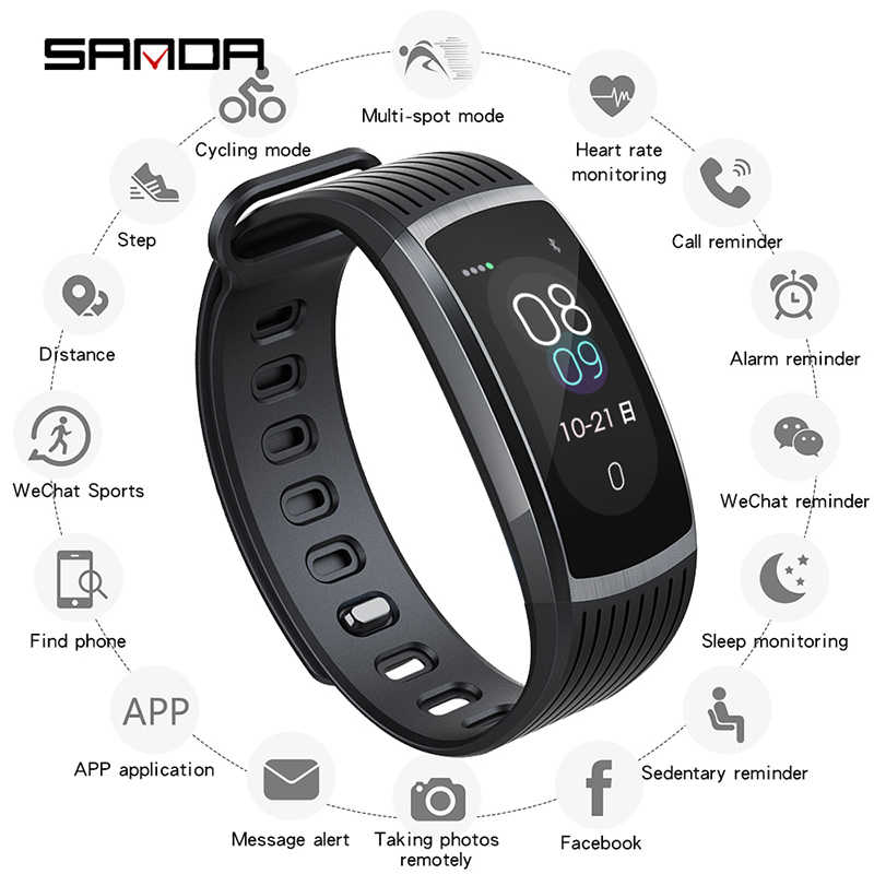 SANDA Men's Smart Watch Android Phone Watch For Women Color Screen Electronic Smartwatch Heart Rate Sleep Smart Band Men Watches