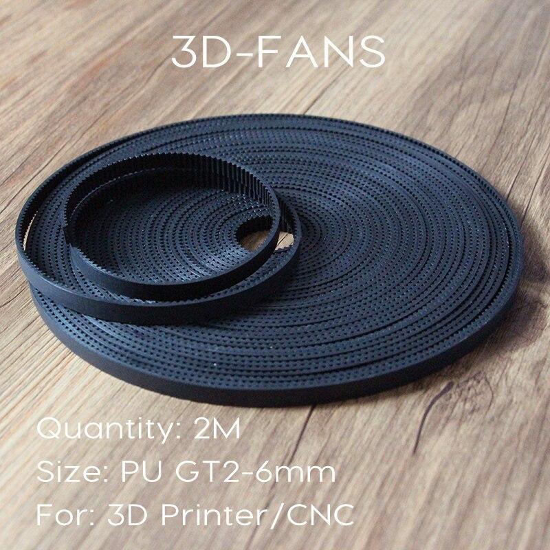 1M 2M 3M 5 m/lote PU con núcleo de acero GT2 cinturón Color negro 2GT correa de distribución 6mm de ancho para impresora 3d envío gratis|for 3d printer|pu gt2pu a - AliExpress