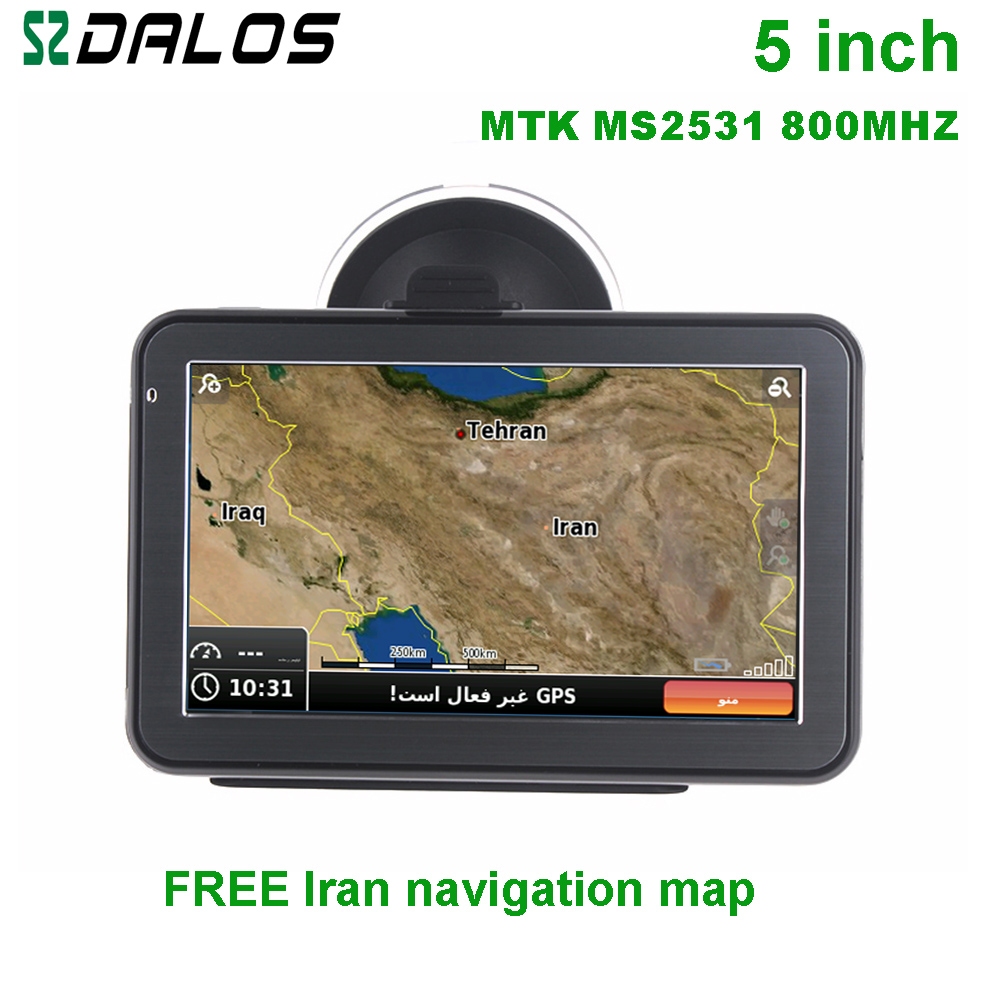 Iran GPS 5 inch Car GPS navigation with free maps of Iran