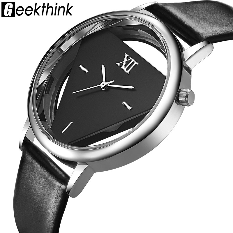 GEEKTHINK Luxury FAMOUS brand Quartz Watches Women Ladies Fashion casual Wristwatch leather Silver Clock Female Relogio feminino silver diamond women watches luxury brand ladies dress watch fashion casual quartz wristwatch relogio feminino
