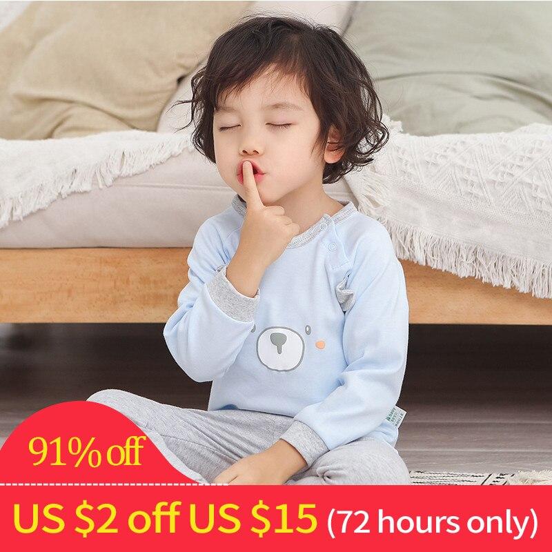 Invierno pijamas de los niños para las muchachas pijamas Set dormir de algodón pijamas niños pijamas Set para niños ropa interior ropa trajes