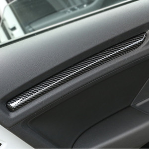 Carbon Fiber Style Dashboard Decoration Cover Trim For Audi A3 8V 2014-2018 S3 2017 ABS Car Inner Door Trim Strips