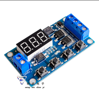 10PCS/LOT Trigger Cycle Timer Delay Switch Circuit Board MOS Tube Control Module 12 24V