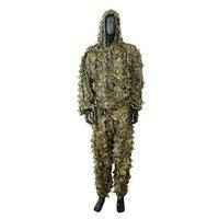 Caccia Camo Abiti Ghillie Suits 3D Lascia Abbigliamento Mimetico Army Sniper Militare Abbigliamento Pantaloni per Giungla Della Fauna Selvatica Fotografia