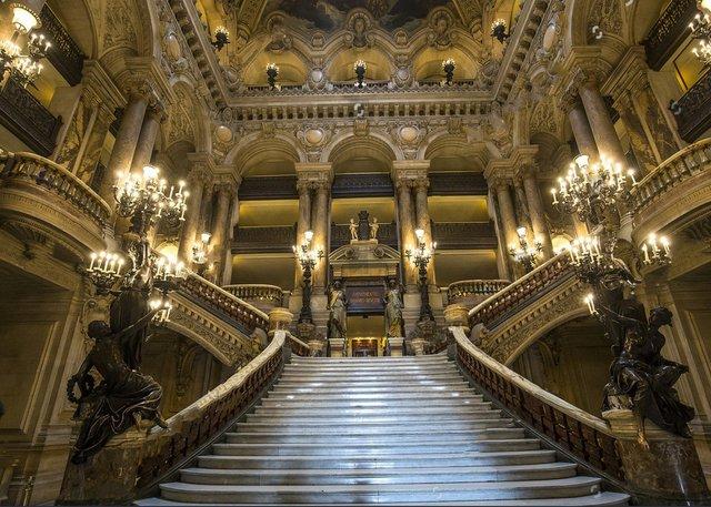 PARIS France Architectural Garnier Opera Light Palace Staircase
