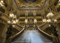 PARIS France Architectural Garnier Opera Light Palace Staircase Theme backdrop Vinyl cloth Computer print wall Background