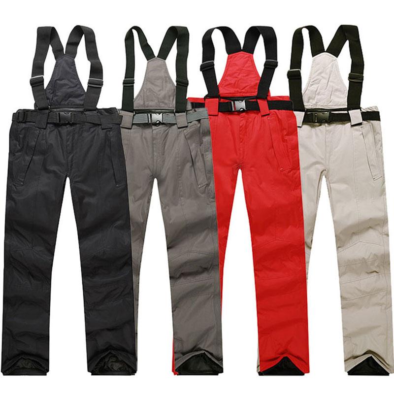 Men Ski Pants Brands 2019 New Warm Outdoor Sports Waterproof Women's Snow Trousers Adult Suspenders Winter Snowboarding Pants