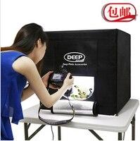 Студия светлая коробка глубоко светодиодные Softbox Studio Box 60 см профессиональной фотографии light box фото студия фон ткани cd50